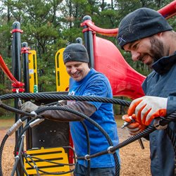 Cox Employees Help Build Playground